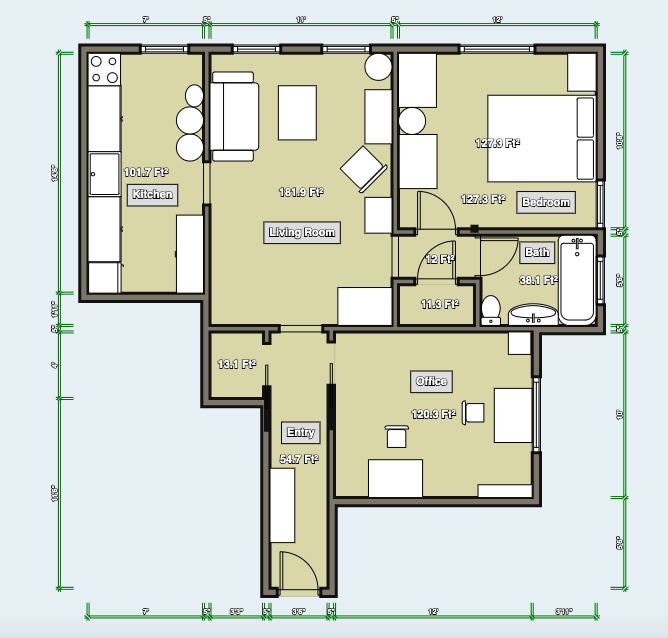 Layout with Second Bedroom