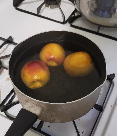 Boiling Peaches